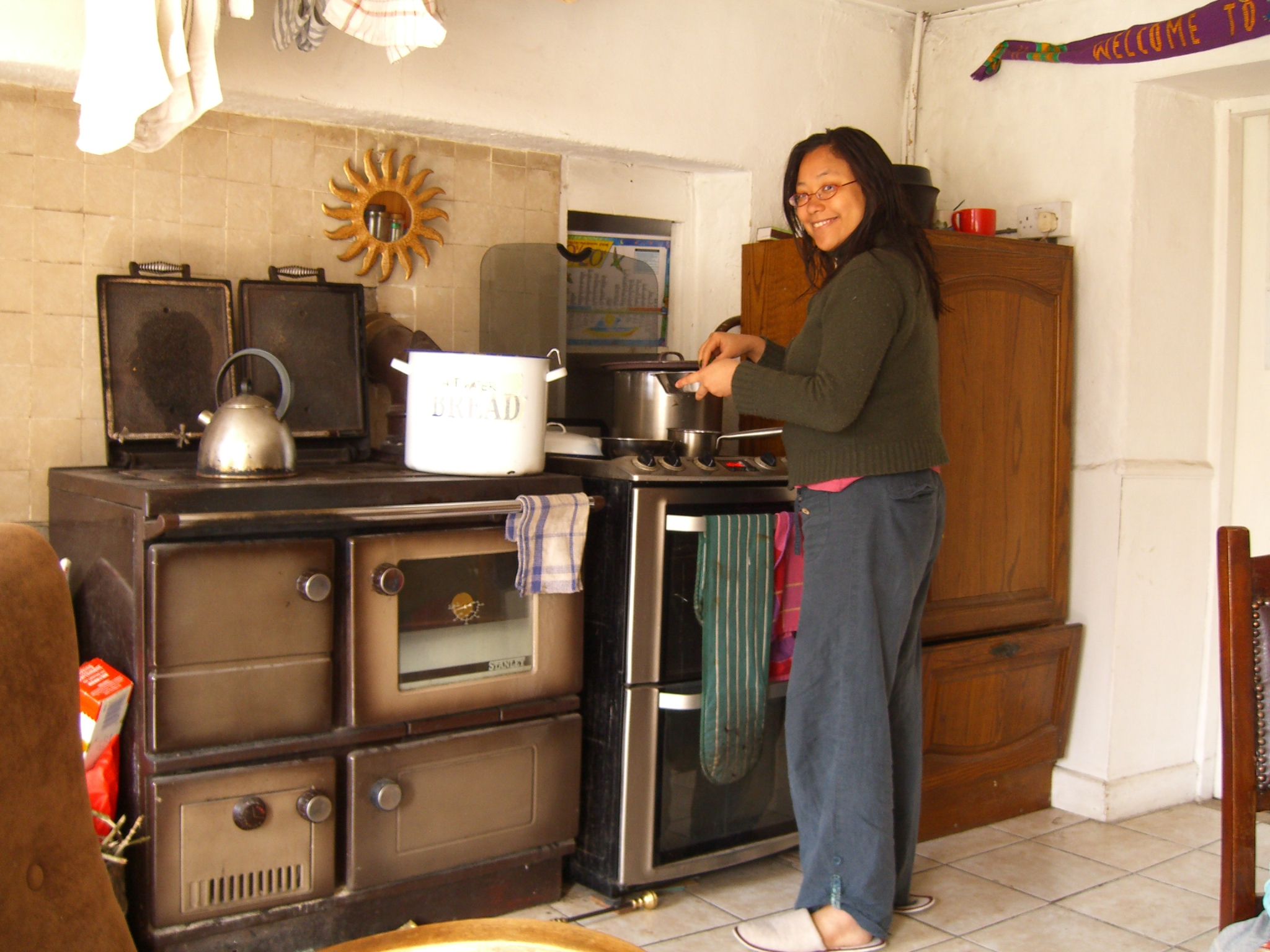Roshnii in the kitchen