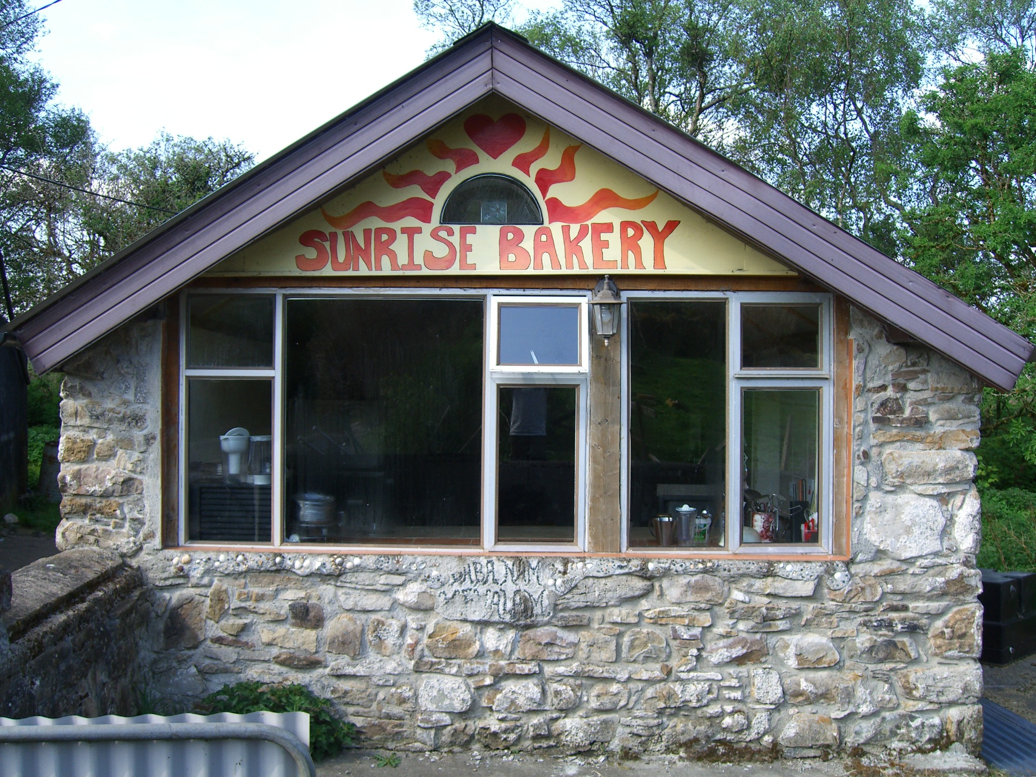 bakery (renovated dilapidated stone horse shed)