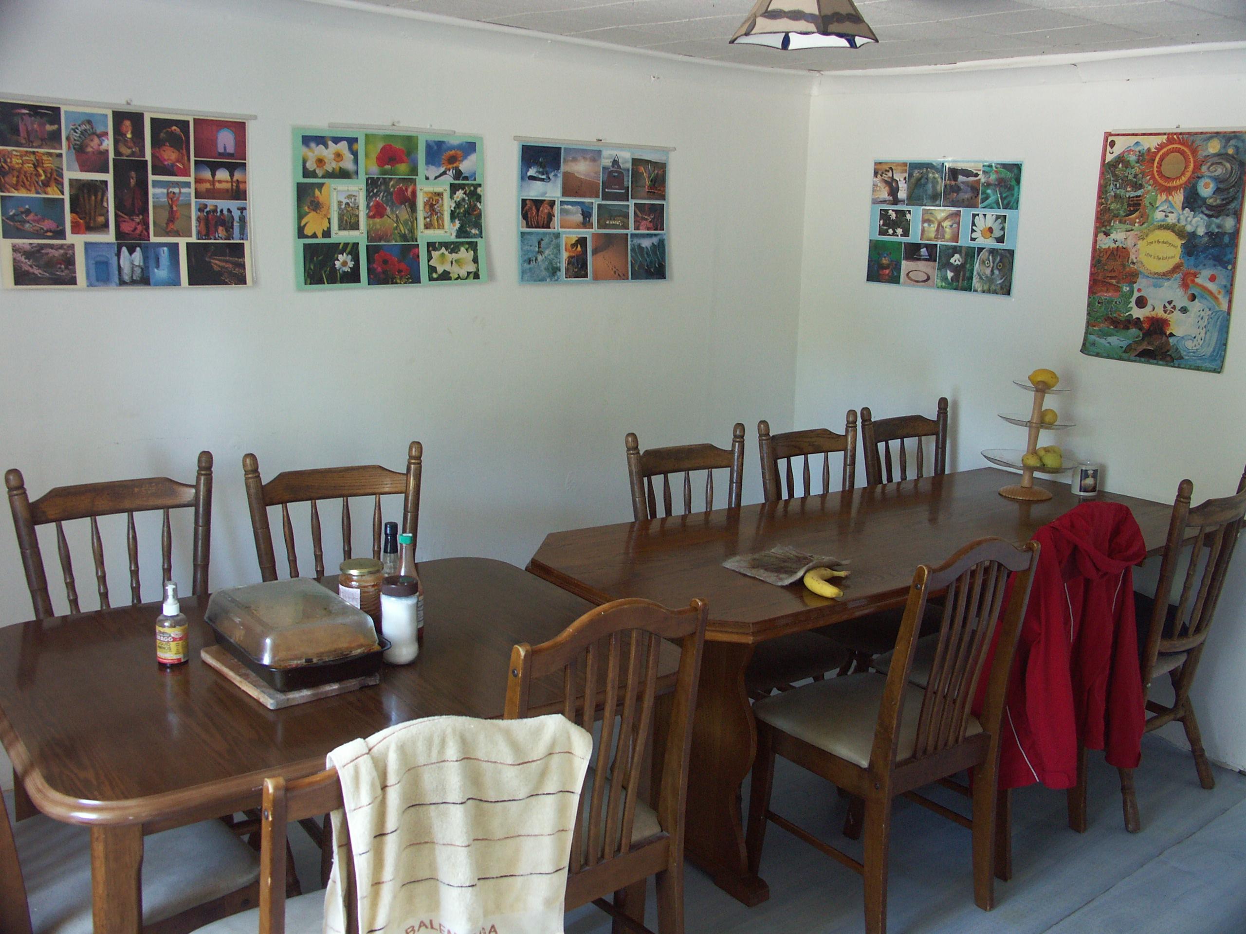 Dining Room inside the farm house